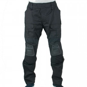 Black Flexible Combat Pants