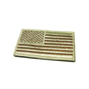 Khaki US Flag Velcro (Large)