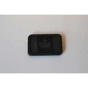 PVC Canadian Flag Velcro Patch (BLACK)
