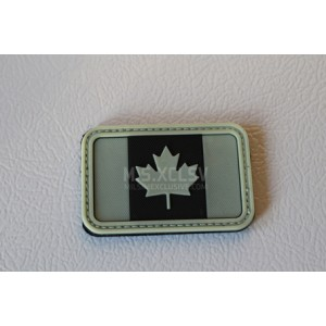 PVC Canadian Flag Velcro Patch (GLOW IN THE DARK)