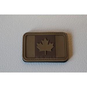 PVC Canadian Flag Velcro Patch (TAN)