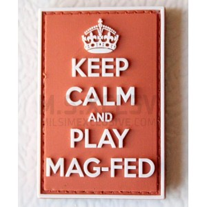 Keep Calm and Play Mag-Fed PVC Velcro Patch