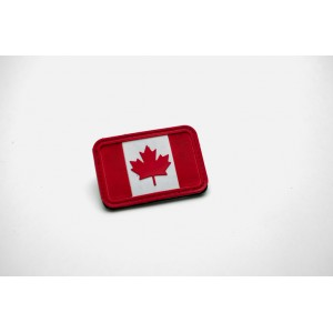 PVC Canada Flag Velcro Patch - Traditional