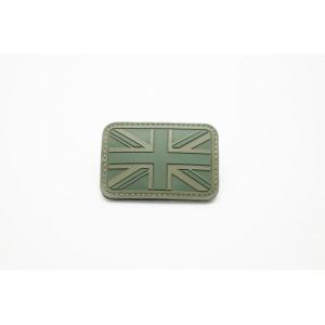 Olive Drab PVC British / UK Flag Velcro Patch