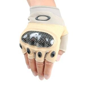 Tan Tactical Fingerless Gloves
