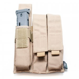 Tan 3 Mags Pouch